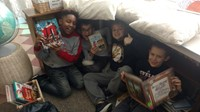 Students enjoying reading